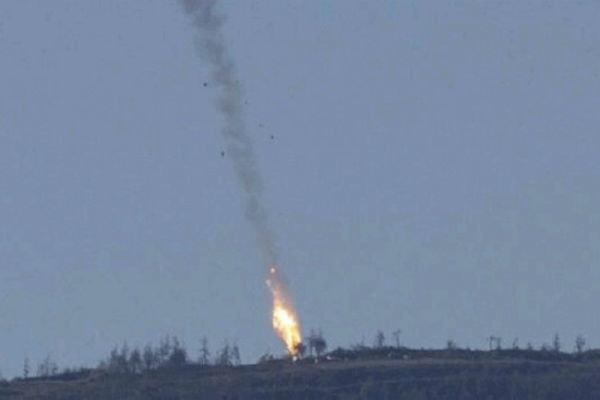 سقوط جنگنده سوری در نزدیکی خان شیخون در ادلب